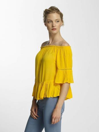only-frauen-bluse-onlbingo-off-shoulder-peplum-in-gelb