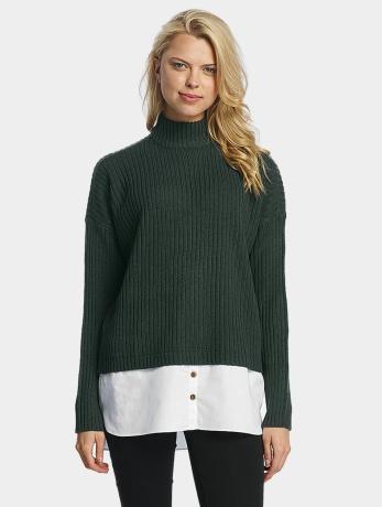 noisy-may-frauen-pullover-nmnami-high-neck-in-grun