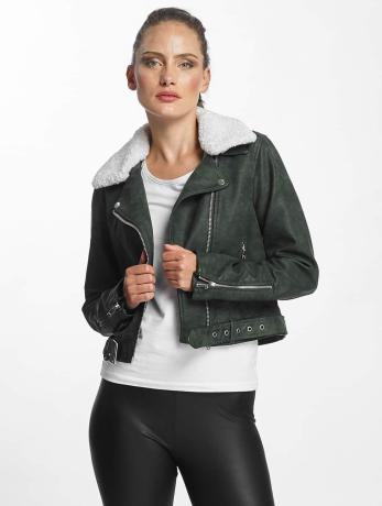 only-frauen-lederjacke-onldanielle-faux-leather-biker-in-grun