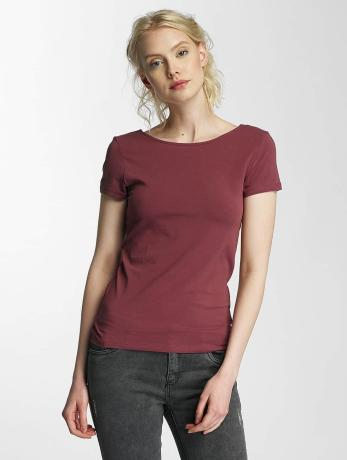 only-frauen-t-shirt-onllive-love-lace-up-in-rot