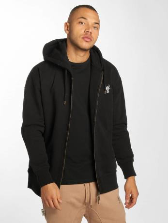 de-ferro-manner-zip-hoodie-bull-in-schwarz