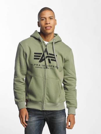 alpha-industries-manner-zip-hoodie-basic-in-olive