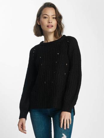 pieces-frauen-pullover-pcsura-in-schwarz