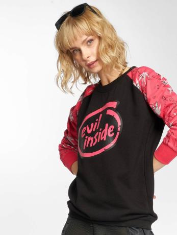 dangerous-dngrs-frauen-pullover-evilinside-in-pink