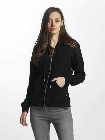 sixth-june-frauen-zip-hoodie-classic-in-schwarz