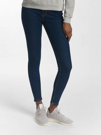pieces-frauen-skinny-jeans-pchighfive-in-blau