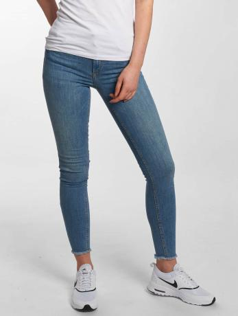 pieces-frauen-skinny-jeans-pcfive-delly-in-blau