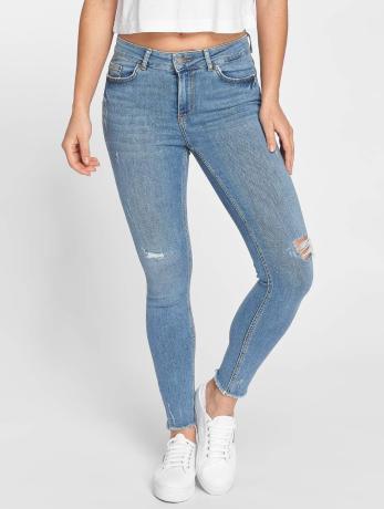 pieces-frauen-skinny-jeans-pcfive-in-blau