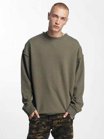 urban-classics-oversized-open-edge-sweatshirt-army-green