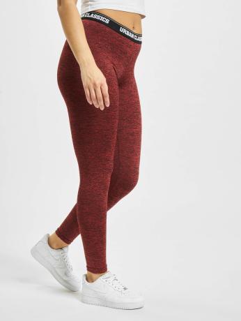 urban-classics-active-melange-logo-leggings-red-black