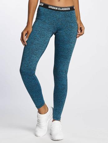 urban-classics-active-melange-logo-leggings-turquoise-black