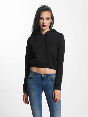 urban-classics-frauen-hoody-interlock-short-in-schwarz