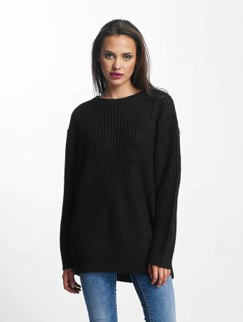 urban-classics-frauen-pullover-basic-oversized-in-schwarz
