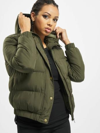 urban-classics-frauen-puffer-jacket-hooded-puffer-in-olive
