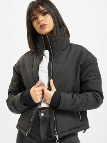 urban-classics-frauen-puffer-jacket-oversized-high-neck-in-schwarz