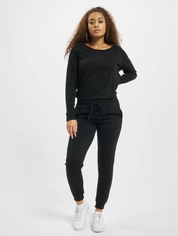 urban-classics-frauen-jumpsuit-longsleeve-terry-in-schwarz