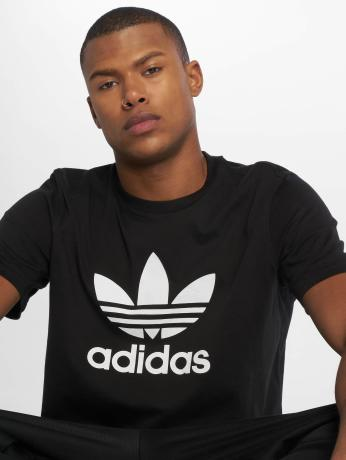 adidas-originals-manner-t-shirt-trefoil-in-schwarz