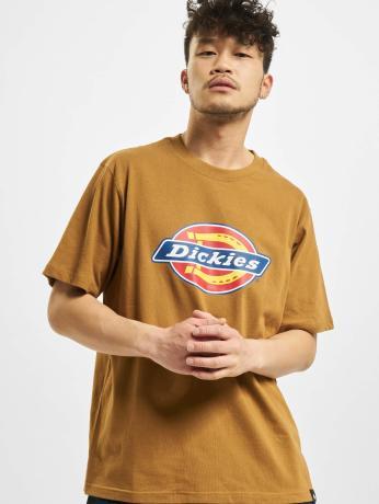 dickies-manner-t-shirt-horseshoe-in-braun