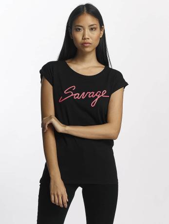 mister-tee-frauen-t-shirt-savage-in-schwarz