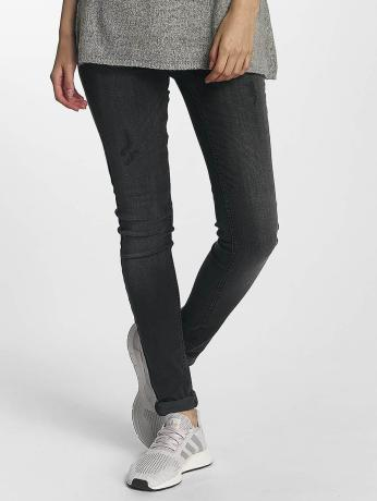 pieces-frauen-skinny-jeans-pcfive-in-grau
