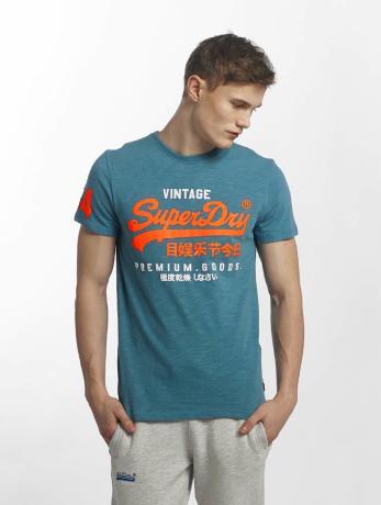 superdry-manner-t-shirt-premium-goods-duo-in-blau