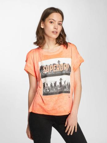 superdry-frauen-t-shirt-miami-palm-in-orange