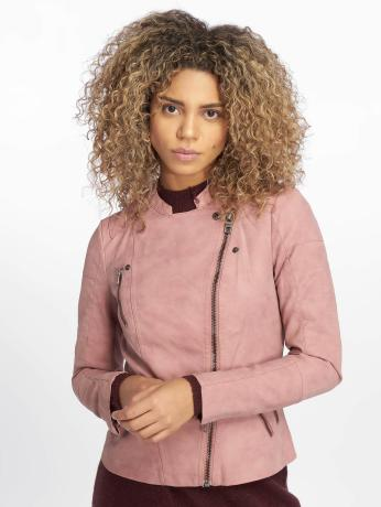 only-frauen-lederjacke-onlava-in-rosa