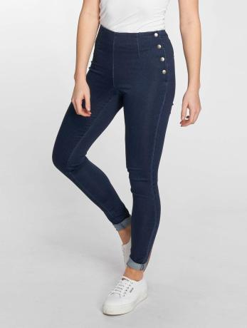 pieces-frauen-high-waist-jeans-pcskin-in-blau