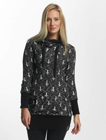 vsct-clubwear-frauen-hoody-reverse-cross-in-schwarz