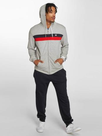 champion-athletics-manner-zip-hoodie-full-in-grau