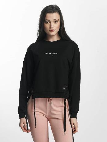 sixth-june-frauen-pullover-lace-in-schwarz