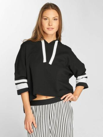 urban-classics-frauen-hoody-taped-cropped-in-schwarz