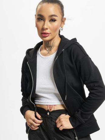 urban-classics-frauen-zip-hoodie-classic-in-schwarz