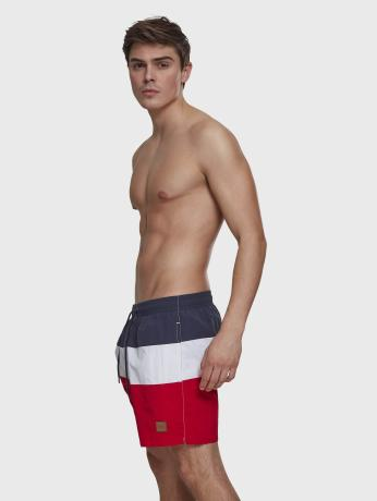 urban-classics-manner-sport-badeshorts-color-block-in-rot