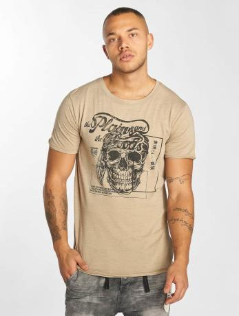 urban-surface-manner-sport-t-shirt-skull-wood-in-beige, 7.99 EUR @ defshop-de