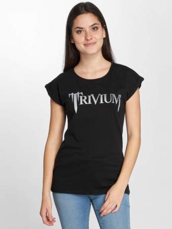 merchcode-frauen-t-shirt-trivium-logo-in-schwarz