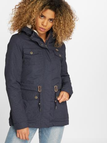 ragwear-frauen-winterjacke-laika-minidots-in-blau