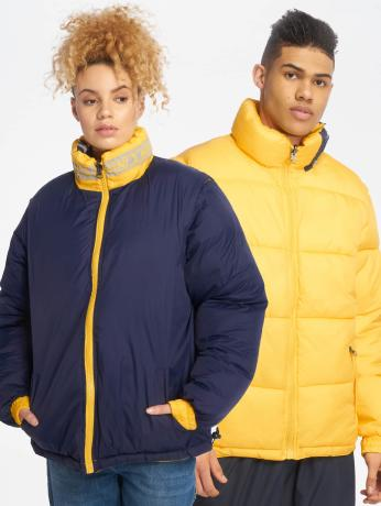 karl-kani-manner-frauen-puffer-jacket-bubble-in-gelb