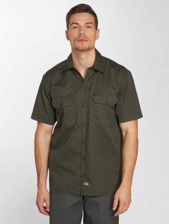 dickies-manner-hemd-shorts-sleeve-work-in-olive