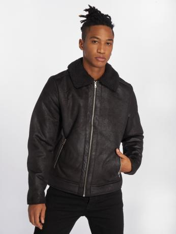 jack-jones-manner-lederjacke-joraviator-in-schwarz