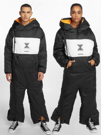onepiece-manner-frauen-jumpsuit-sleeping-bag-in-schwarz