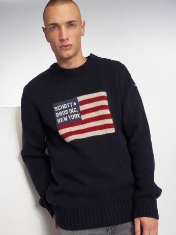 schott-nyc-manner-pullover-pl-outfox-in-blau