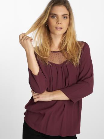 only-frauen-bluse-onlsonny-3-4-in-rot