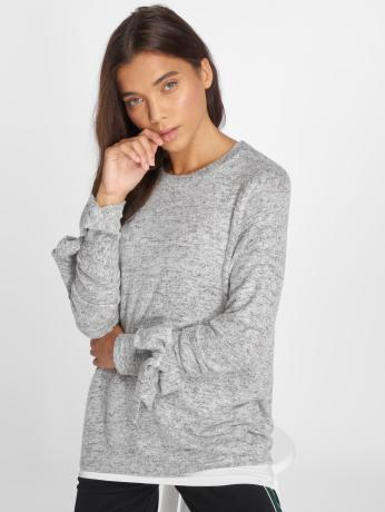 noisy-may-frauen-pullover-nmmillie-l-s-o-neck-knit-6-in-grau
