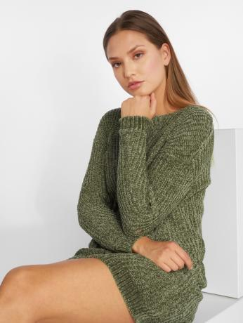 noisy-may-frauen-kleid-nmmaria-knit-in-olive
