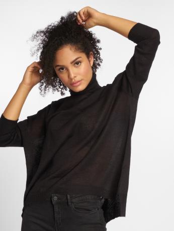 pieces-frauen-pullover-pcanilla-in-schwarz