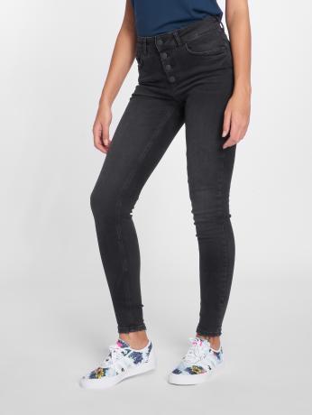 pieces-frauen-skinny-jeans-pcfive-in-schwarz