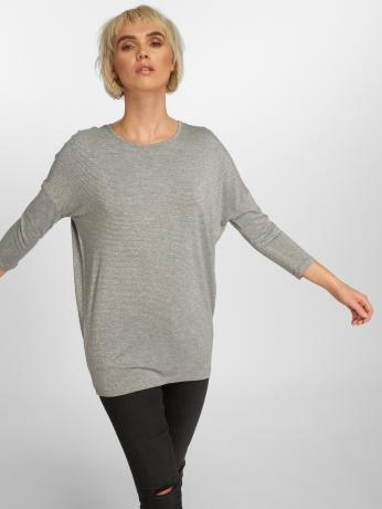 pieces-frauen-longsleeve-pcminna-3-4-lurex-in-grau