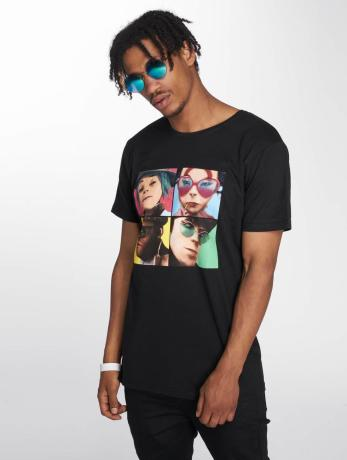 merchcode-manner-t-shirt-gorillaz-4-faces-in-schwarz