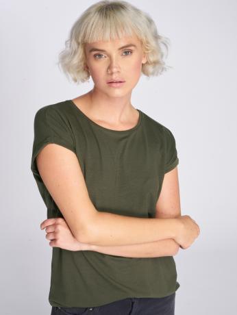 vero-moda-frauen-t-shirt-vmava-plain-color-in-grun
